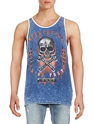 Affliction On The Tracks Graphic Tank Navy