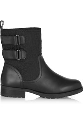 Dkny Nayla Jacquard Canvas And Rubber Boots Black