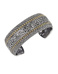 Effy Balissima Sterling Silver And 18K Yellow Gold Cuff Bracelet