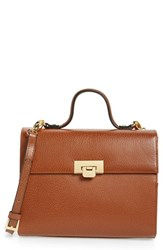 Lodis Medium Bree Leather Crossbody Bag Brown Chestnut