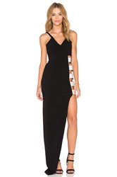 By Johnny Side Buckle Maxi Dress Black