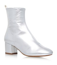 Kg By Kurt Geiger Snooze Ankle Boots Female Silver