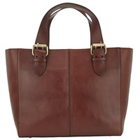 John Lewis Penny Leather Tote Tan