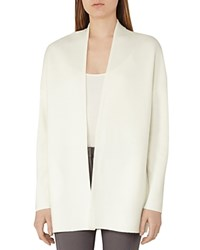 Reiss Tori Open Cardigan Off White