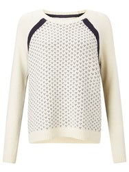John Lewis Collection Weekend By Fairisle Dot Jumper Ivory