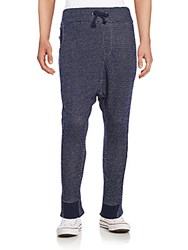 Mostly Heard Rarely Seen Knit Harem Pants Navy