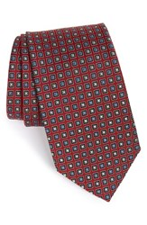 Men's J.Z. Richards Medallion Silk Tie Red