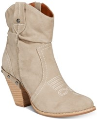 Mojo Moxy Dolce By Menzie Western Booties Women's Shoes Taupe
