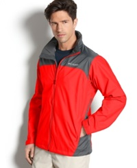 Columbia Jacket Glennaker Lake Omni Shield Rain Jacket Bright Red Grill