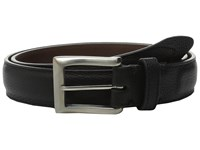 Will Leather Goods Trapunto Feather Edge Black Men's Belts