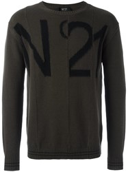 N 21 No21 Logo Motif Jumper Green