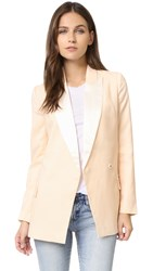 Blaque Label Fitted Tuxedo Jacket Blouse Cream