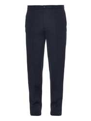 Balenciaga Slim Fit Double Faced Wool Blend Trousers