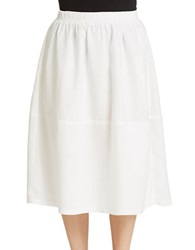 Eileen Fisher Plus Plus Organic Cotton Midi Skirt White