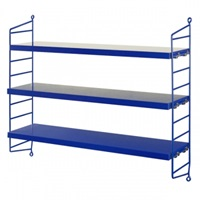 String String Pocket Shelf Cobalt Blue Bookcases Furniture Finnish Design Shop