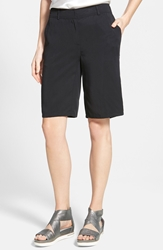 Eileen Fisher Twill Bermuda Shorts Regular And Petite Online Only Black