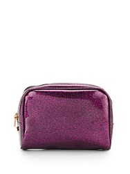Deux Lux Mercury Glitter Jelly Cosmetic Bag Fuchsia