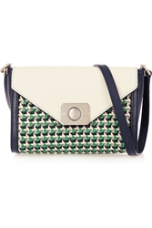 Mulberry Delphie Duo Small Woven Paneled Leather Shoulder Bag