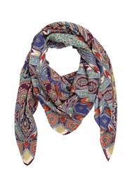 Etro Paisley Wool And Silk Scarf