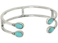Lucky Brand Set Stone Turquoise Bracelet Medium Grey Bracelet Gray