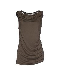 Donna Karan Topwear T Shirts Women Military Green