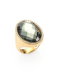 Roberto Coin Cocktail Prasiolite Diamond And 18K Yellow Gold Ring Yellow Gold Grey
