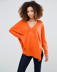 Shae Farrah V Neck Jumper Harissa Red