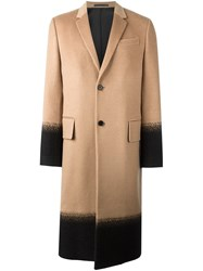 Valentino Single Breasted Coat Brown