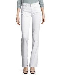 7 For All Mankind Kimmie Form Fitted Bootcut Jeans Clean White