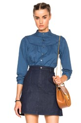 A.P.C. Ingalls Blouse In Blue