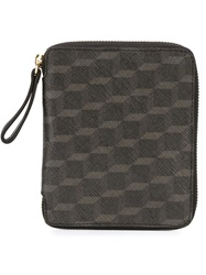 Pierre Hardy Printed Zip Around Wallet Black