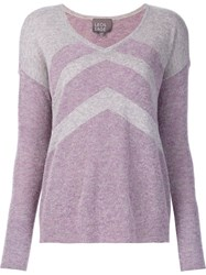 Leo And Sage Chevron Pattern Jumper Pink And Purple