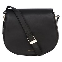 Karen Millen Structured Satchel Handbag Black