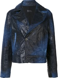 Judson Harmon 'Cropped Moto' Jacket Blue