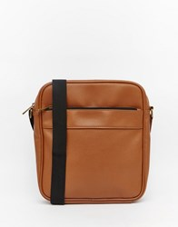 Asos Mini Messenger In Brown With Zip Brown