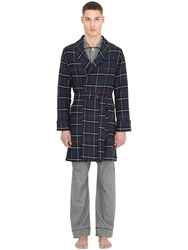 Maison Marcy Heavy Plaid Cotton Dressing Robe