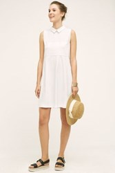 Anthropologie Quinn Poplin Shirtdress White