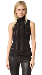 Cinq A Sept Sleeveless Antonia Turtleneck Black