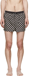Dolce And Gabbana Black And White Polka Dot Swimsuit