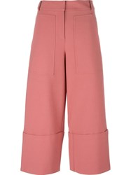 Tibi 'Terra' Cropped Trousers Pink And Purple