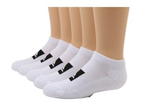 Quiksilver Legacy Ankle 5 Pair Pack Big Kid White Men's No Show Socks Shoes