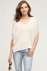 Anthropologie Ribbed Cocoon Tee Ivory