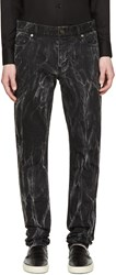 Saint Laurent Black Skinny Destroyed Punk Denim