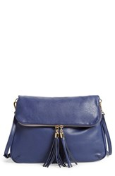 Emperia Faux Leather Crossbody Bag Blue Navy