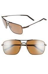 Men's Revo 'Groundspeed' 59Mm Polarized Aviator Sunglasses Brown Terra