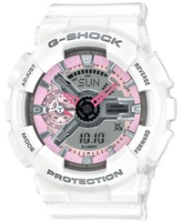 G Shock Women's Analog Digital S Series White Bracelet Watch 49X46mm Gsts100g 1A No Color
