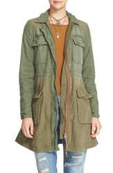 Free People Women's Colorblock Military Jacket