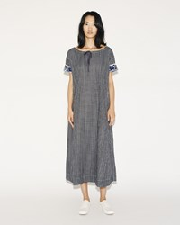 Dosa Embroidered Nimes Dress Grey