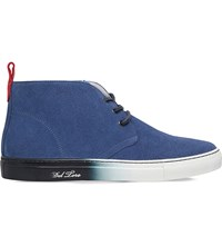Del Toro Ombre Sole Suede Chukka Trainers Navy
