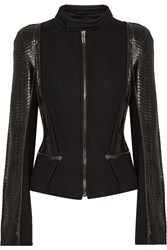 Haider Ackermann Leather And Wool Blend Jacket Black